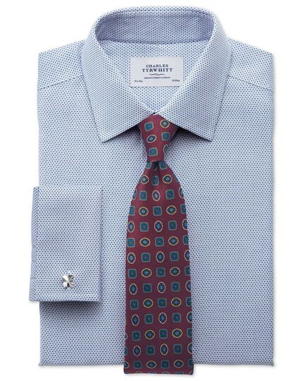 Classic fit non iron imperial weave blue shirt