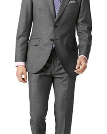 Grey check slim fit British Panama luxury suit