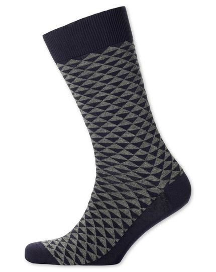 Grey triangle socks