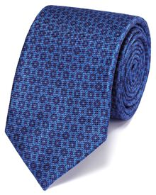 Blue and navy silk classic tie