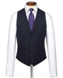 Navy flannel business suit vest