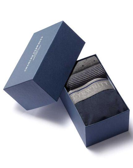 Unterhosen- und Socken-Geschenkset in marineblau