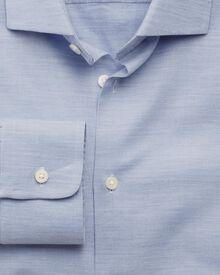Slim Fit Business Casual Melange Sky Shirt