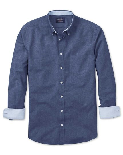 Classic Fit Oxfordhemd in jeansblau