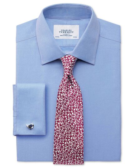 Magenta silk classic abstract texture tie