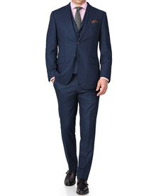 Blue slim fit saxony business suit