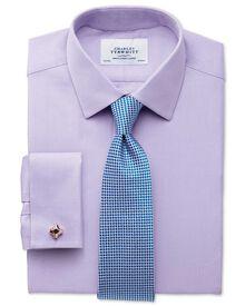 Classic Fit Kavallerie-Twill Hemd aus ägyptischer Baumwolle in flieder