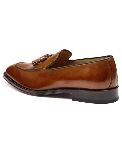 Tan Harley apron tassel loafers