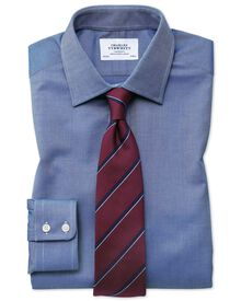 Classic fit Egyptian cotton royal Oxford royal blue shirt