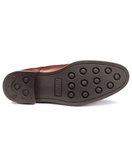 Brown Temple toe cap boots