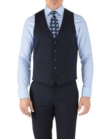 Navy adjustable fit hairline business suit waistcoat