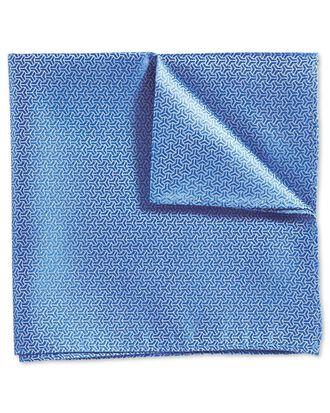 Klassisches Einstecktuch in Himmelblau mit Faux-Uni und Pfeil-Muster