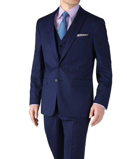 Slim Fit Businessanzug Sakko aus Twill in königsblau