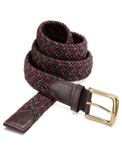 Navy multi stretch belt