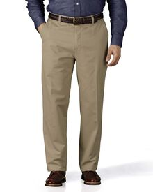 Stone classic fit flat front chinos