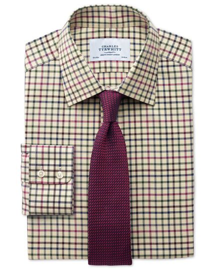 Classic fit country check pink and green shirt