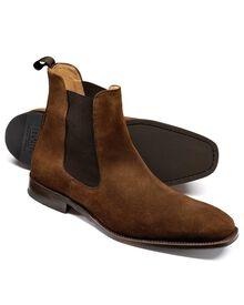 Tan Montagu suede Chelsea boots