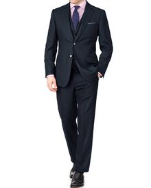Indigo classic fit saxony business suit