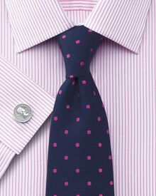 Classic fit Bedford raised stripe pink shirt