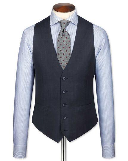 Blue sharkskin travel suit waistcoat