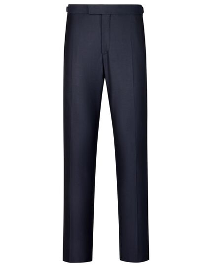 Navy slim fit Yorkshire worsted luxury suit pants