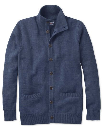 Indigo blue heather cardigan