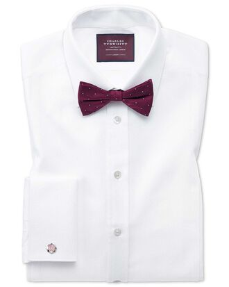 Slim fit luxury marcella white evening shirt