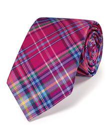 Multi silk luxury geometric tie