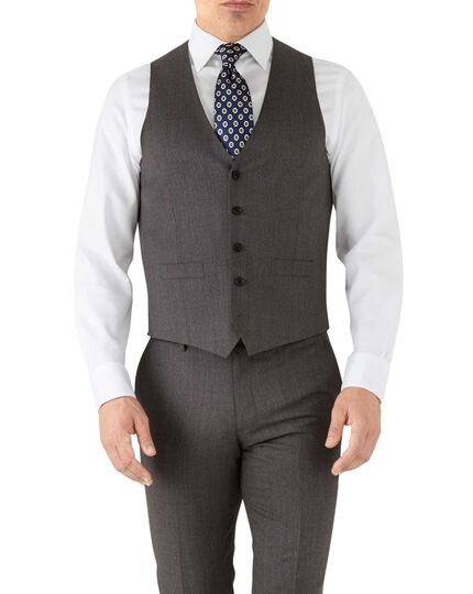 Mocha adjustable fit hairline business suit waistcoat