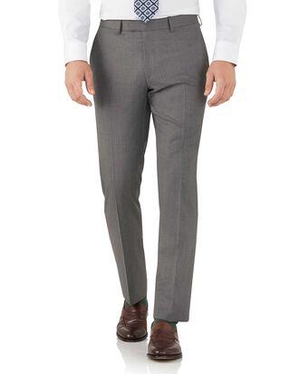 Pantalon de costume gris en tissu italien slim fit