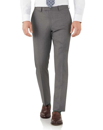Grey slim fit Italian suit pants