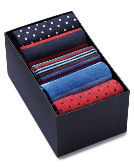 Red white and blue sock gift box