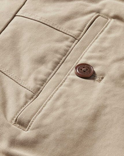 Stone slim fit flat front weekend chinos