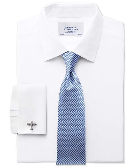 Royal blue silk classic puppytooth tie