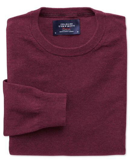 Wine cotton cashmere crew neck sweater