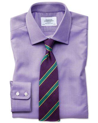 Slim fit Egyptian cotton royal Oxford lilac shirt