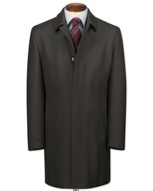 Charcoal herringbone wool car coat
