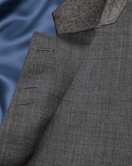 Grey classic fit end-on-end business suit jacket
