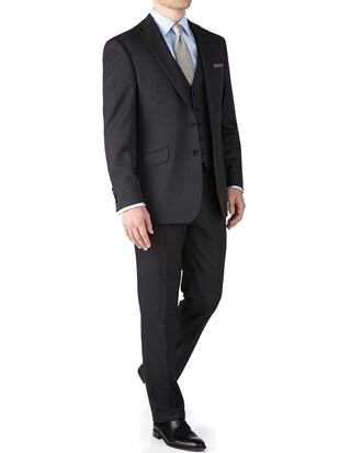 Charcoal classic fit end-on-end business suit