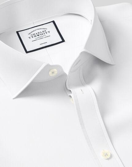 Bügelfreies Super Slim Fit Hemd aus Popeline in Weiß