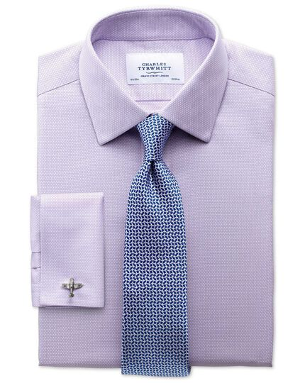 Extra slim fit non-iron honeycomb lilac shirt