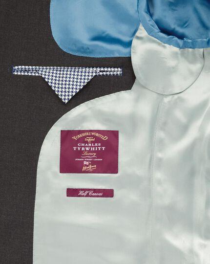 Charcoal slim fit British hopsack luxury suit jacket