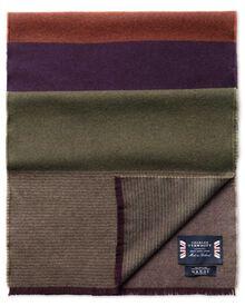 Purple striple merino scarf