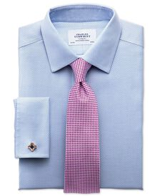 Slim fit non iron imperial weave sky blue shirt