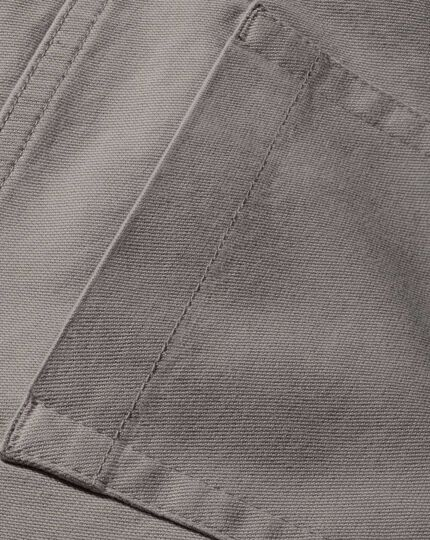 Silver classic fit stretch pique 5 pocket pants