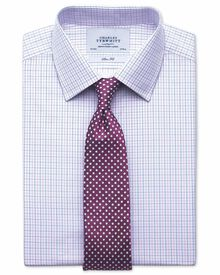 Extra slim fit two colour check pink & blue shirt