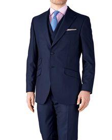 Slim Fit Luxusanzug Sakko aus Britisch-Panama-Gewebe in MarineBlau