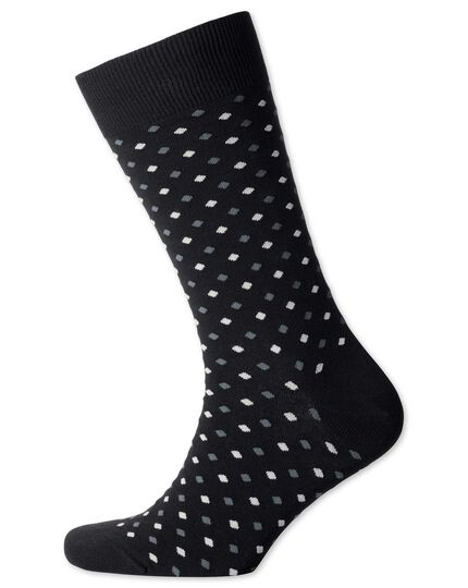 Black small spot socks