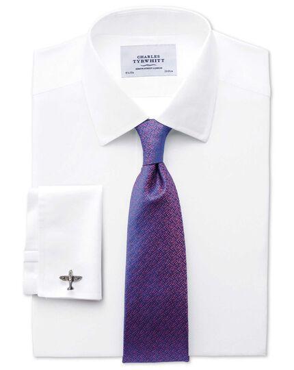 Blue and pink silk textured luxury tie