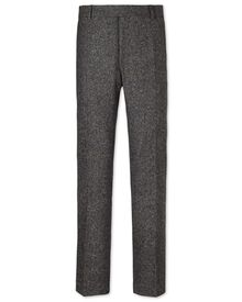 Grey slim fit Donegal tweed pants